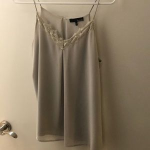 Light gray lace camisole
